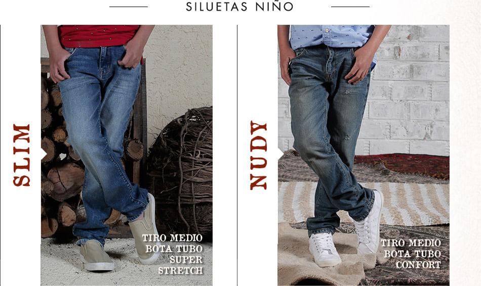 Siluetas de jeans para niño