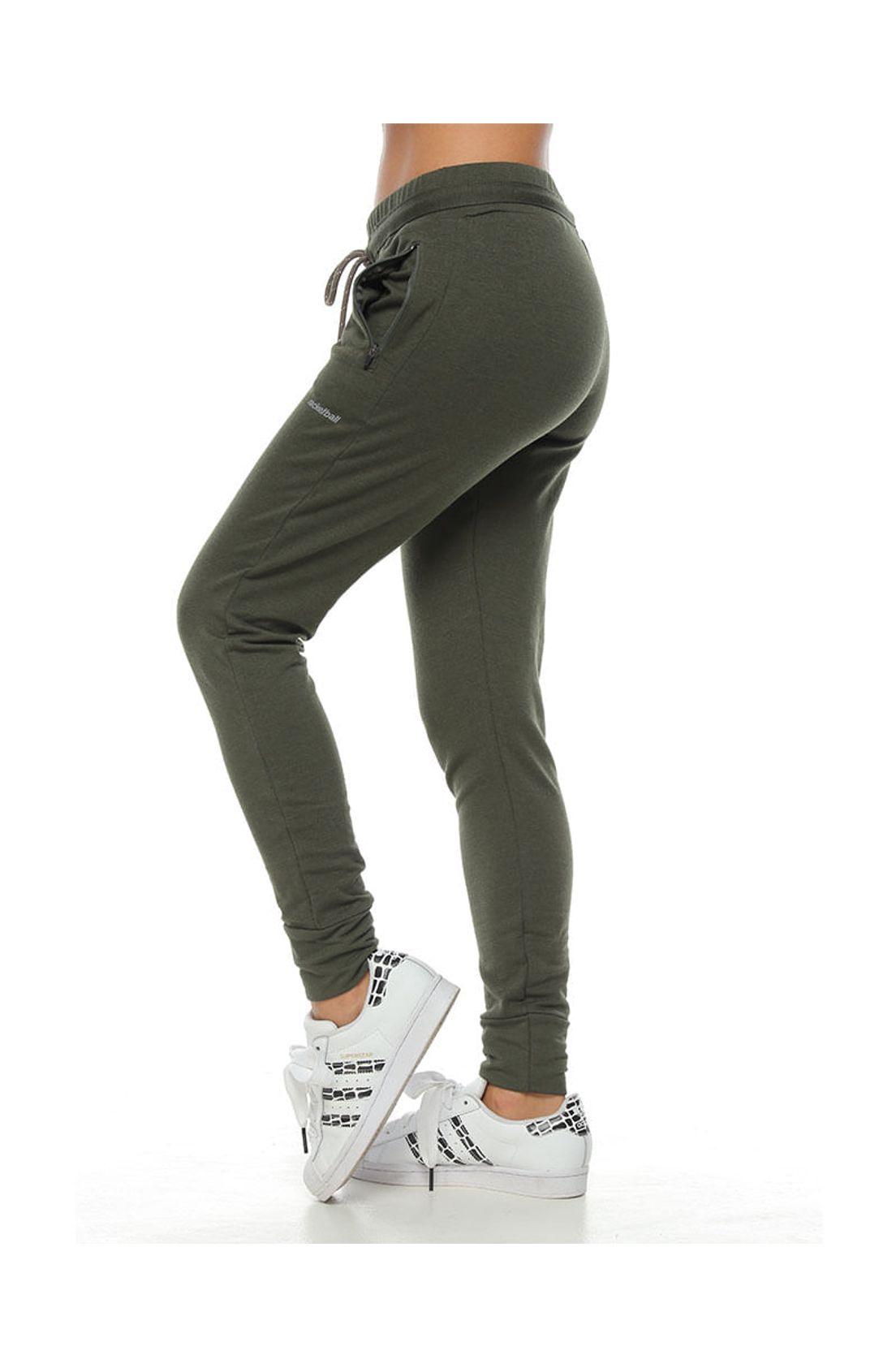 Pantalon Jogger Color Verde Para Mujer Tennis