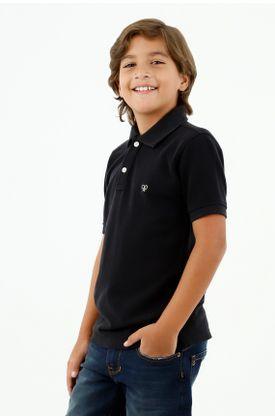 polos-para-niño-tennis-negro