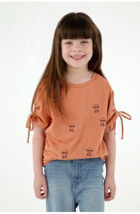 tshirt-para-niña-tennis-naranja