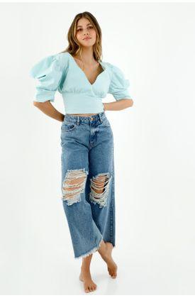 camisas-para-mujer-topmark-azul