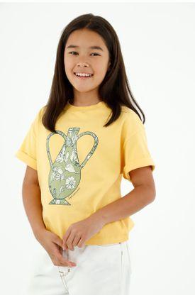 tshirt-para-niña-tennis-amarillo