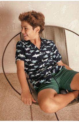 camisas-para-niño-tennis-negro