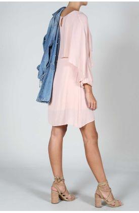 Vestidos cortos en color palo de rosa