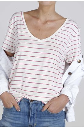 Tshirt-estampado-rayas-rosadas