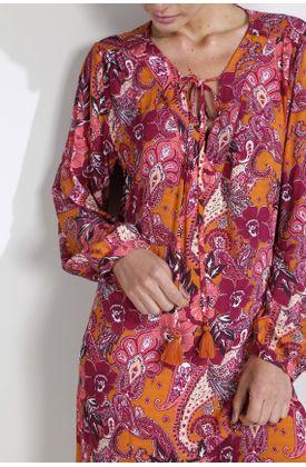 Vestido-corto-estampado-flores