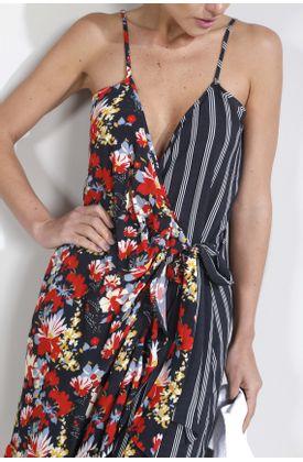 Vestido-corto-estampado-rayas-y-flores