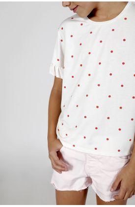 Tshirt-estampado-puntos-rojos