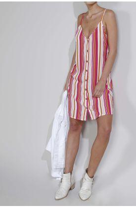 Raya Vestido Estampado Largo Colores De 4x68F8Efwq
