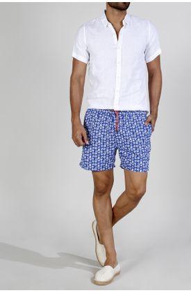 Pantaloneta-plano-estampado-flores-fondo