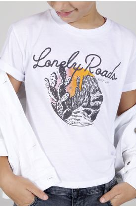 Tshirt-estampado-lonely-roads