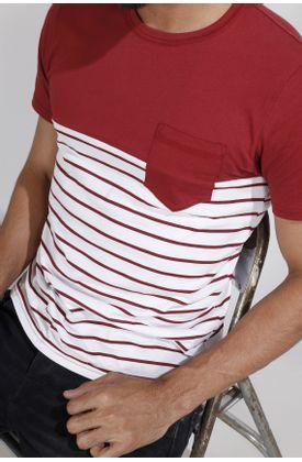 Tshirt-estampado-rayas-vinotinto-y-bloque