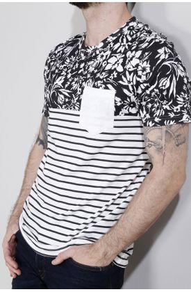 Tshirt-fondo-entero-flores-y-rayas
