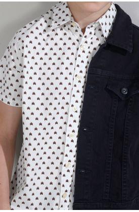 Camisa-estampada-y-manga-corta-