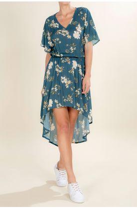 Vestido-TopMark-corto-y-estampado-de-flores