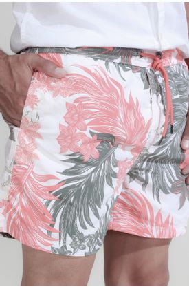 Pantaloneta-de-baño-plano-y-estampado-flores