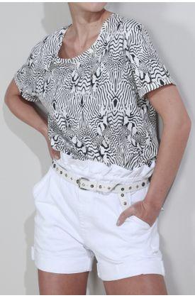 Tshirt-Tennis-estampado-cebra-lineas-delgadas