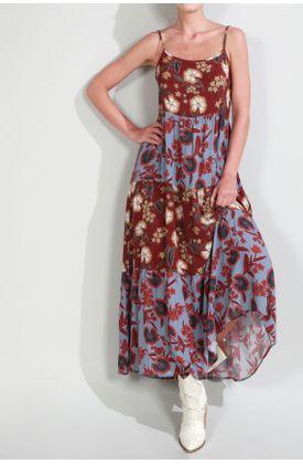 Vestido-Tennis-largo-y-estampado-de-flores-en-contraste