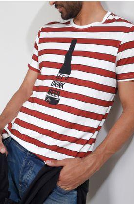 Tshirt-Tennis-by-Poker-estampado-de-rayas-y-botella