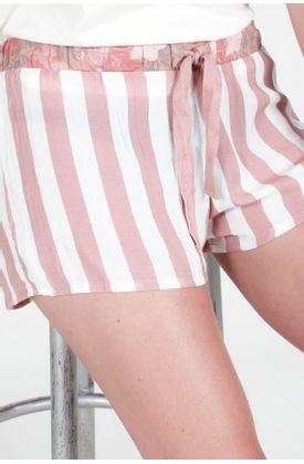 Pijama-Tennis-parte-inferior-con-estampado-de-rayas-rosadas-y-flores-en-contraste