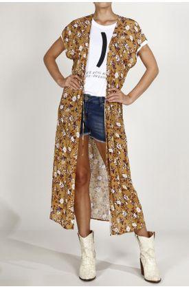 Kimono-TopMark-estampado-de-flores.-Color--AMARILLO.-Hecho-en-material--100--VISCOSA