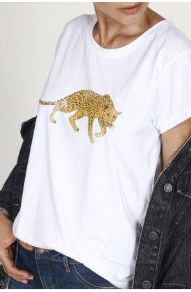 Tshirt-TopMark-con-estampado-tigre.-Color--BLANCO.-Hecho-en-material--Poliester