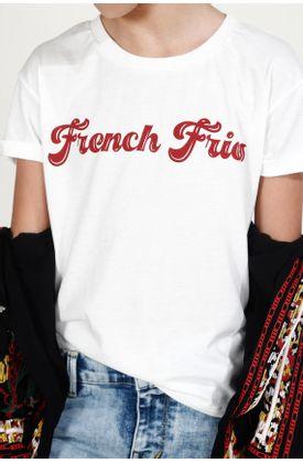 T-shirt-niña-Tennis-estampado-french-fries