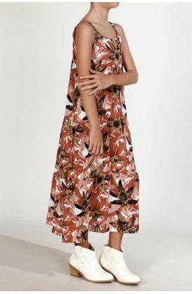 Vestido-niña-Tennis-largo-y-estampado-flores