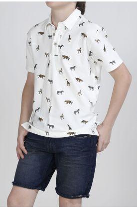 Polo-niño-Tennis-estampado-animales