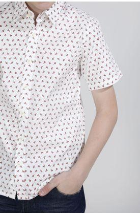 Camisa-niño-Tennis-estampado-y-manga-corta