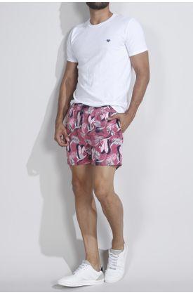 Pantaloneta-plana-y-estampado-de-flamingos-y-hojas