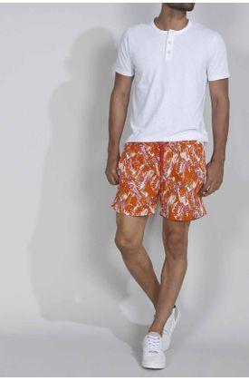 Pantaloneta-de-baño-plano-y-estampado-guacamayas