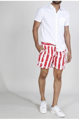 Pantaloneta-de-Baño-Tennis-con-estampado-de-caballos-de-mar