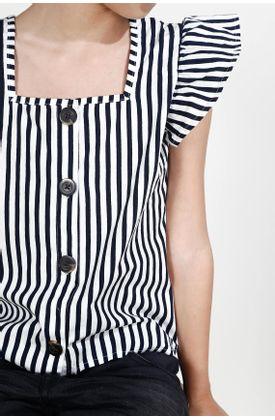Camisa-para-niña-Tennis-estampada-y-manga-corta