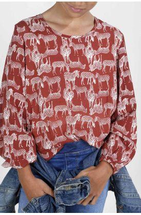 Camisa-para-niña-Tennis-estampada-y-manga-larga