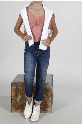 Jean-para-niña-Tennis-silueta-super-slim-plano-y-cintura-resortada