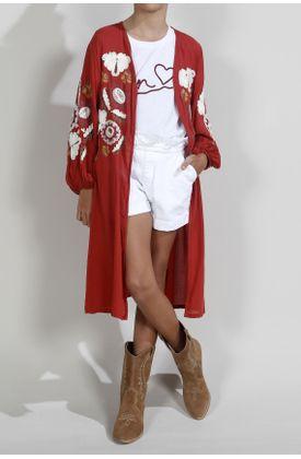 Kimono-para-niña-Tennis-fondo-entero-y-bordado-de-flores