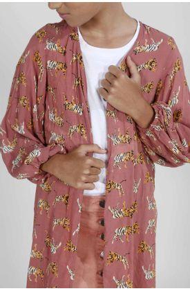 Kimono-para-niña-Tennis-estampado-de-tigres