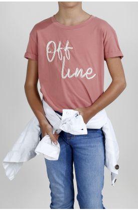 Tshirt-para-niña-Tennis-estampado-de-off-line