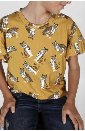 Tshirt-para-niña-Tennis-estampado-de-tigres