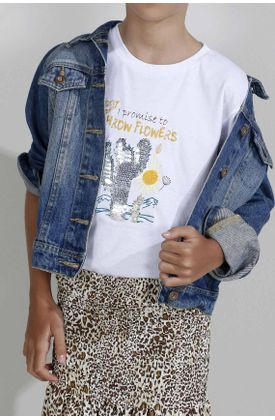 Tshirt-para-niña-Tennis-estampado-de-cactus-lentejuelas