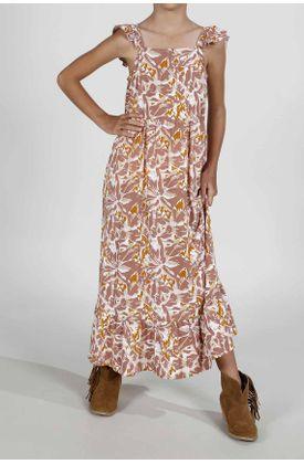 Vestido-para-niña-Tennis-largo-y-estampado-de-flores