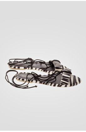 Sandalias-para-mujer-Tennis-de-cuero-y-estampado