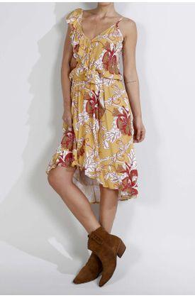 Vestido-para-mujer-Tennis-corto-y-estampado-de-flores-grandes
