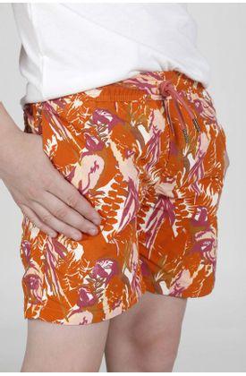 Pantaloneta-de-baño-plano-y-estampado-de-guacamayas