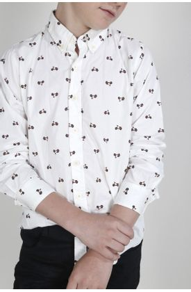 Camisa-para-niño-Tennis-estampada-y-manga-larga