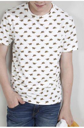 Tshirt-para-niño-Tennis-fondo-entero-y-mini-dinosaurios