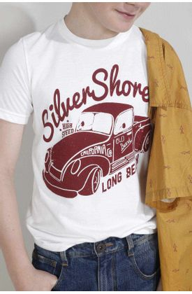 Tshirt-para-niño-Tennis-estampado-silver-shore