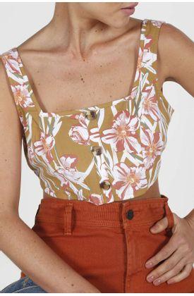 Camisa-para-mujer-Tennis-estampada-y-manga-sisa