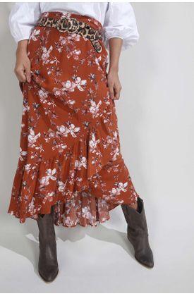 Falda-para-mujer-Tennis-plana-y-estampado-de-flores